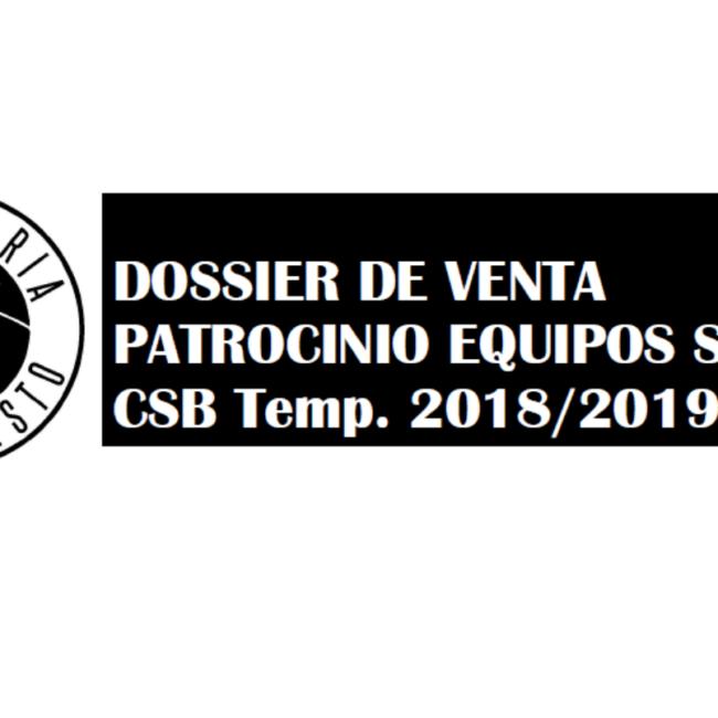 Portada dossier venta patrocinio equipos senior Club Soria Baloncesto temporada 2018-19