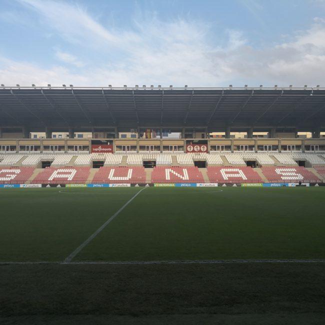 Estadio de Las Gaunas en el que se disputó el partido